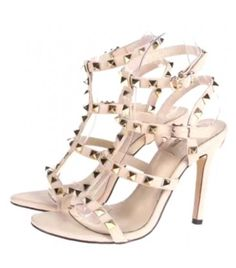 Nude color Vincenzo Valentino studded leather fashion heels. Available in ladies European sizes 36-41.        Please be advised that when ordering clothing and footwear; it may fit smaller than the size you normally wear. It's recommended to order a size or two larger to insure a better fit and reduce the chances of returning for another size. | Shop this product here: spree.to/ckkw | Shop all of our products at http://spreesy.com/jessycat    | Pinterest selling powered by Spreesy.com