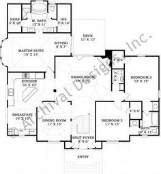 Burnside House Plan - House Plan - Neoclassic - First Floor Plan