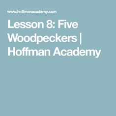 Learn to play the song Five Woodpeckers with right hand, left hand, or both hands. A fun beginning piano lesson by pianist Joseph Hoffman for ages Joseph Hoffman, Piano Lessons For Beginners, Woodpeckers, Advice, Songs, Learning, Tips, Studying, Teaching