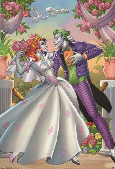"These two are ""crazy"" about each other! A great poster of two of Batman's nemeses - The Joker and Harley Quinn - from DC Comics. Fully licensed. Ships fast. 22x34 inches. Our amazing selection of Batm"