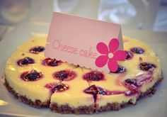 Cheese cake - candy bar with flowers theme - Boheme delices francaises
