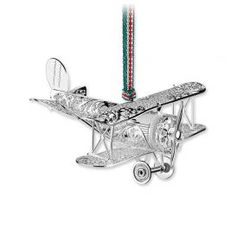 Newbridge Silverware Airplane Decoration Irish Christmas, Silver Christmas, Christmas Is Coming, Christmas Decorations, Christmas Ornaments, Christmas Tree, Airplane Decor, Swarovski Jewelry, Hanging Ornaments