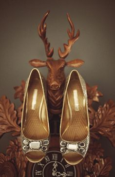 gold wedding copper wedding party inspiration shoes from once wed