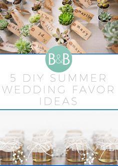 5 DIY Summer Wedding Favor Ideas