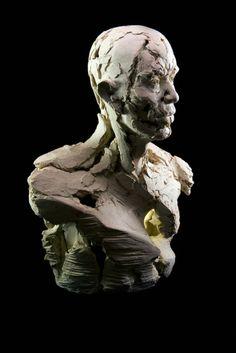 Wyvern II, 2014, 69cm H x  54cm W, x 31cm D, ceramic.