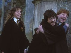 Who's birthday party did Harry, Ron, and Hermione go to in The Chamber of Secrets?