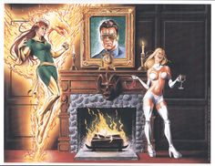Jean Grey and Emma Frost, Fire and Ice
