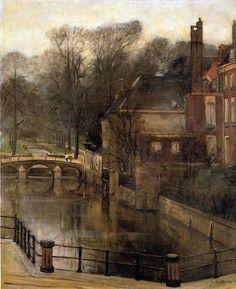 House In Brug,  Floris Arntzenius. Dutch (1864 - 1925)