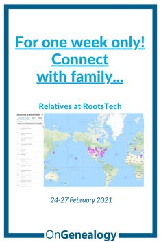 Here's how to sign up and join RootsTech Connect 2021 and find other attendees you're related to, where they live, how you're related, create chat rooms to connect or direct message them and more! You can use the sign up link to start searching for living family now! #FamilySearch #OnGenealogy #RootsTech2021 #RootsTechConnect