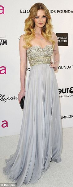 Angelic: Actress Paz Vega and actress and model Lydia Hearst both looked angelic in their attire