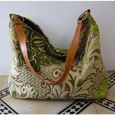 Green Hobo Upholstery Bag -Greenheart Shop