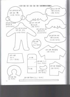 Quiet book - dress up doll template