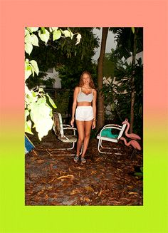 Samantha Vrielink in the Material Girl Mesh Bralette (http://www.nastygal.com/product/material-girl-mesh-bralette-white). Shot by Nasty Gal photo editor and mixtape master Cat Roif in Miami.