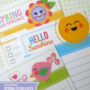 {Free Printable} Spring Friends To Do Lists