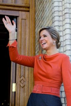 Queen Maxima of The Netherlands visits King and Queen of Norway at the royal palace in Oslo, Norway, 02.10.13