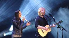 """Christina Perri and Ed Sheeran singing """"Be My Forever"""""""
