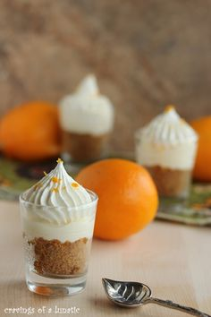 Meyer Lemon Cheesecake Shots  | cravingsofalunatic.com | Simple way to whip up no bake cheesecakes. Two options for lots of variety. You are going to love these little cup of awesome cheesecake. Meyer Lemon Recipes, Lemon Desserts, Mini Desserts, Just Desserts, Delicious Desserts, Yummy Food, Fruit Recipes, Cheesecake Recipes, Lemon Cheesecake
