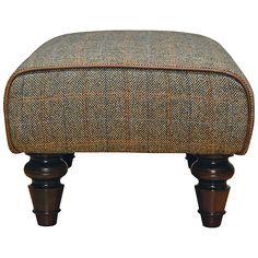 Buy Tetrad Harris Tweed for John Lewis Lewis Footstool, Bracken/Tan Online at johnlewis.com