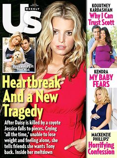 Jessica Simpson poses on the October 5, 2009 cover of 'Us Weekly' magazine