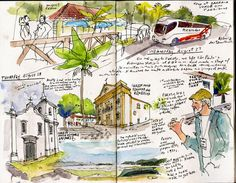 """By Gabi Campanario in Paraty, Brazil   That """"Five Day Art Challenge"""" going around on Facebook gave me the push I needed to scan and share th..."""