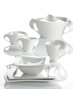 I love this wavy dinnerware set to decorate my home with once I able to focus my attention on finishing my home.