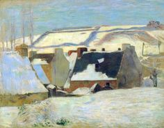Paul+Gauguin+Breton+Village+in+Snow.jpg 800×624 пикс