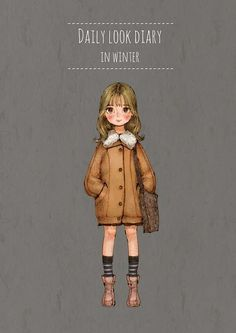 Daily look diary por Aeppol People Illustration, Illustrations, Cute Illustration, Character Illustration, Watercolor Illustration, Creative Pictures, Cute Pictures, Person Cartoon, Sketch Inspiration