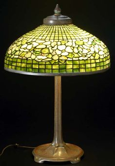 "Tiffany Studios Dogwood Table Lamp, 31"" x 21"""