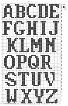 Crochet Alphabet, Crochet Letters, Alphabet Charts, Embroidery Alphabet, Letter Patterns, Loom Patterns, Stitch Patterns, Knitting Charts, Knitting Stitches