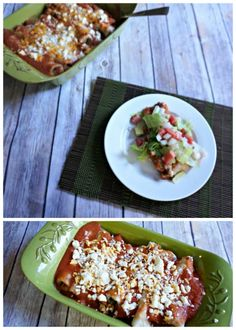 Pumpkin Enchiladas (Vegetarian, Gluten-Free Option) A meatless, savory, fiesta for your taste buds.