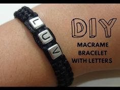 (25) EASY: How to Make a Macrame Bracelet with Letters (For Beginners) - YouTube