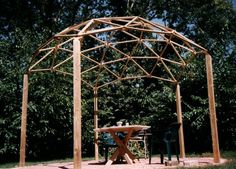 A Geodesic Dome Pergola - Carter can make this for your wedding arch!!!