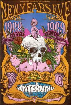 ☮ American Hippie Music ☮ Grateful Dead, Santana, New Years Eve at Winterland 1968>1969