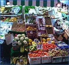 The Oxford Covered Market - Vegetable stall, beautiful indoor market