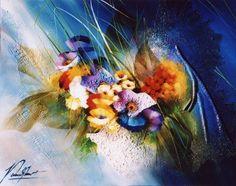 Raymond Poulet Floral Watercolor, Still Life, French, Artwork, Painting, Florals, Videos, Blog, Flower Arrangements