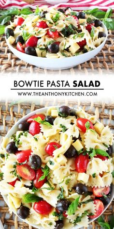 Italian Bowtie Pasta Salad with creamy Italian dressing and Parmesan is perfect for lunches, parties and BBQ side dishes! A light and healthy recipe!! Main Dish For Potluck, Potluck Dishes, Potluck Recipes, Side Dish Recipes, Creamy Pesto Pasta, Pesto Pasta Salad, Pasta Salad Italian, Easy Pasta Recipes, Pasta Salad Recipes