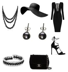 """""""Black Is Beautiful"""" by elijahfromkik ❤ liked on Polyvore featuring Stuart Weitzman, Chanel, Franco Gia and Bling Jewelry"""