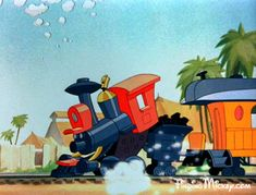 The WDP Circus' locomotive inspired the Casey Junior Circus Train at Disneyland. Dumbo Disney, Disney Pixar, Disney Characters, Cute Bunny Pictures, Circus Train, Cartoons Love, Disney Concept Art, Hidden Mickey, Walt Disney Studios