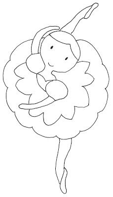 Pattern for ballerina. Applique Templates, Applique Patterns, Applique Designs, Embroidery Designs, Colouring Pages, Coloring Books, Quilting, Sewing Appliques, Baby Quilts