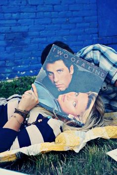 "• Record Faces • ⋅ Two Of A Kind ⋅ "" John Travolta & Olivia Newton John """