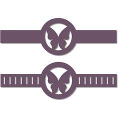 Silhouette Design Store - Search Designs : 3 decorative letters band w ribbon