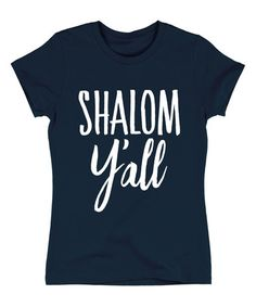 'Shalom Y'all' Fitted Tee