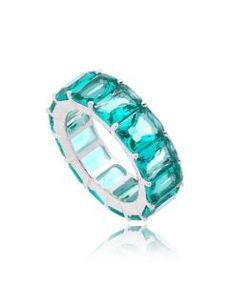 aliança turmalina com banho de rodio semi joias de luxo Aliança Com Pedra,  Joia Elegante 86e892f1d0