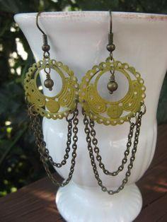 Mustard Chandelier Earrings