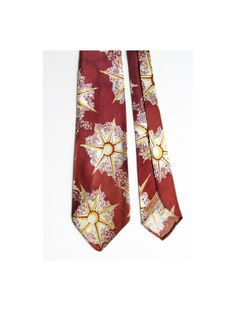 """1940's Art Deco """"STARFISH"""" wide tie by Hollyvogue, made in California, and sold at The Broadway, in L.A., Pasadena, and Hollywood"""