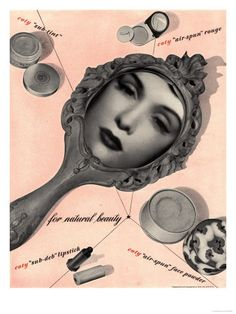 Art Surreal Surrealism Mirrors Powder Lipsticks Lipstick To For, USA, 1950
