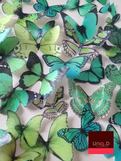 Edible butterfly cake decorations...made of of rice paper and edible ink!! So pretty! A must try!