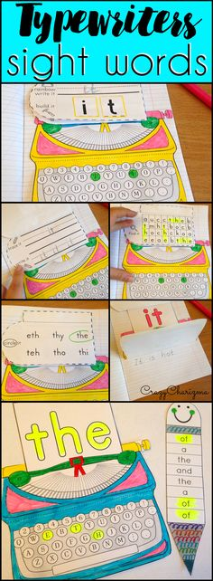 These awesome sight word activities for kinds in preschool, kindergarten and first grade provide engaging, hands-on ways to build up sight word knowledge and increase reading skills. Needing to spice up your sight word routine? Try these typewrtiers interactive notebok printables for teaching 220 sight words from top lists: Pre-Primer, Primer, Grade 1, Grade 2 and Grade 3. | CrazyCharizma