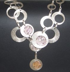 Festive MESH silver and gold necklace by UGLYGOLD to by UGLYGOLD, $990.00