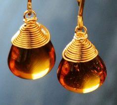 Amber earrings. Pretty!